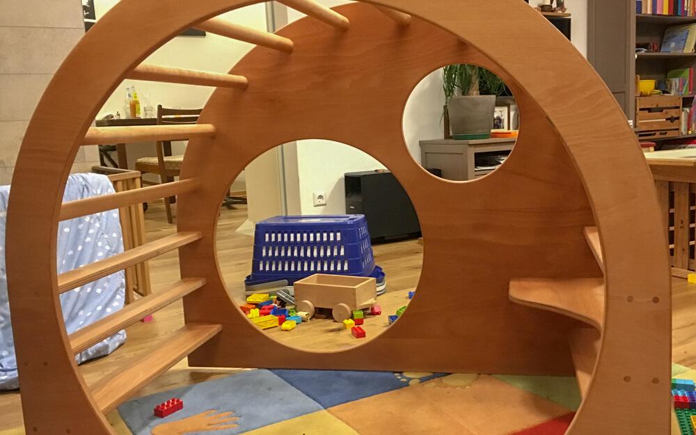 Kletterbogen Wehrfritz : Holz kletter bogen: erfahrungen mit dem pikler dreieck