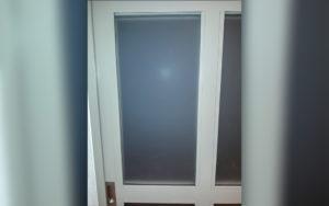 Fenster mit Scheibe Rückseite