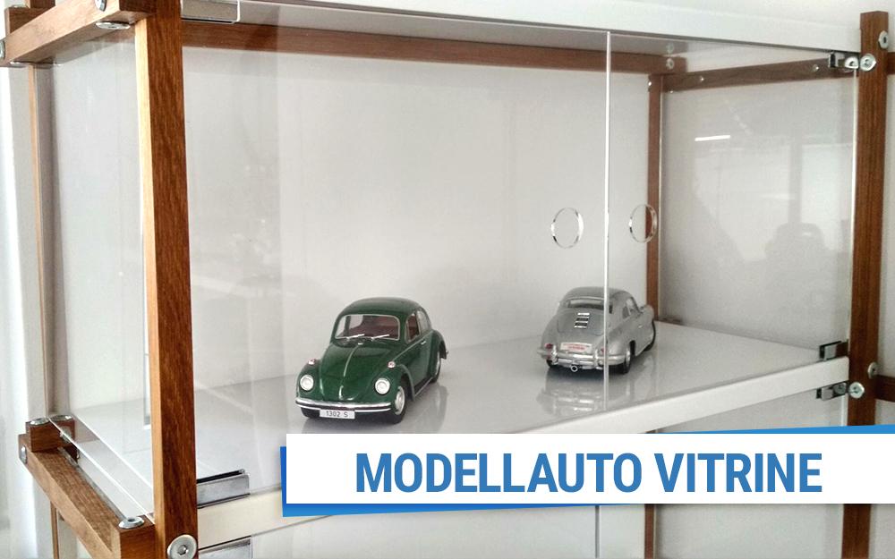 Super Modellauto Vitrine aus Acrylglas & Holz selber bauen BN94