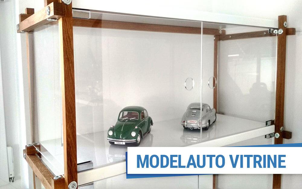Modelauto Vitrine Aus Acrylglas Und Holz