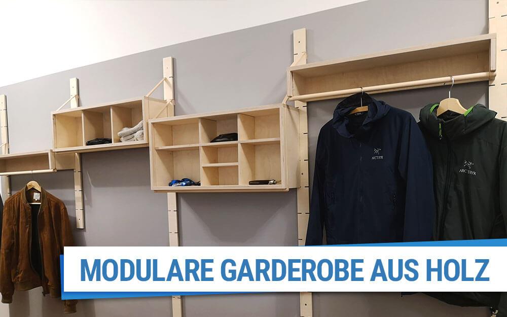 Modulare Garderobe aus Multiplex