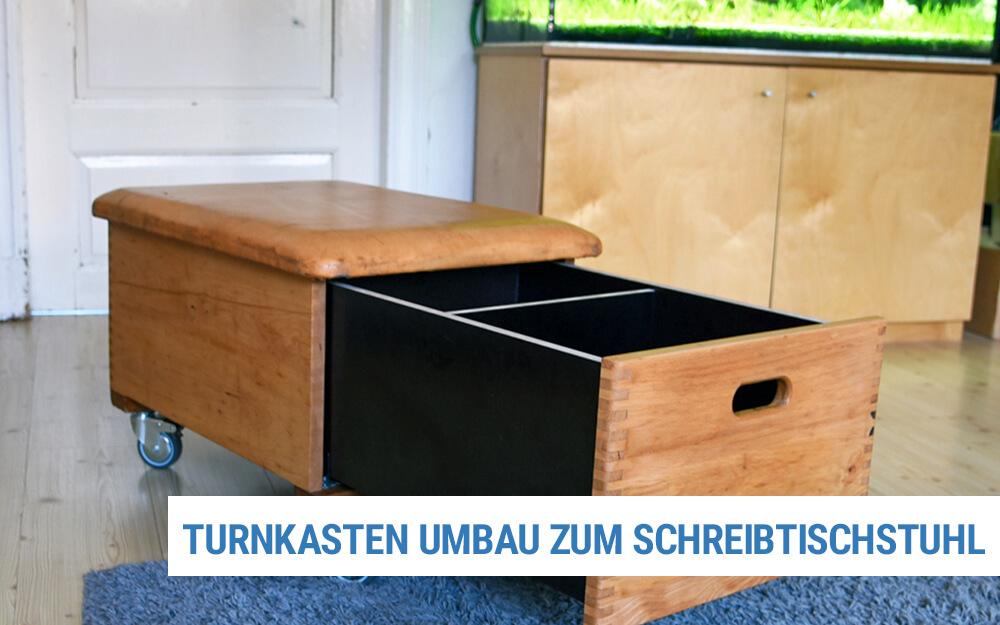 Turnkasten als Schreibtischstuhl