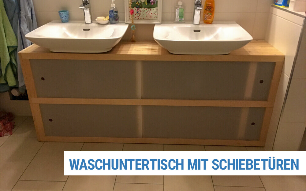 Waschtischuntertisch mit Schiebetüren